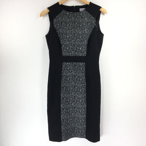 Tahari Arthur S Levine 4 Black Gray Sheath Dress